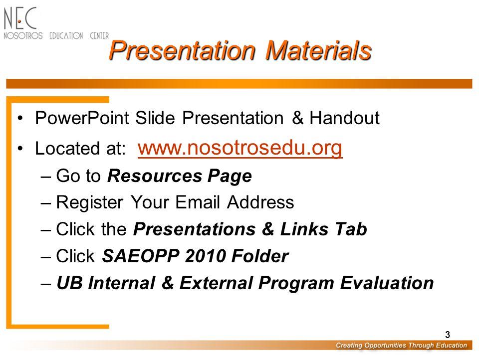 24 Process Based Evaluation UB Process Based Evaluation Checklist External Process Based Evaluation Report