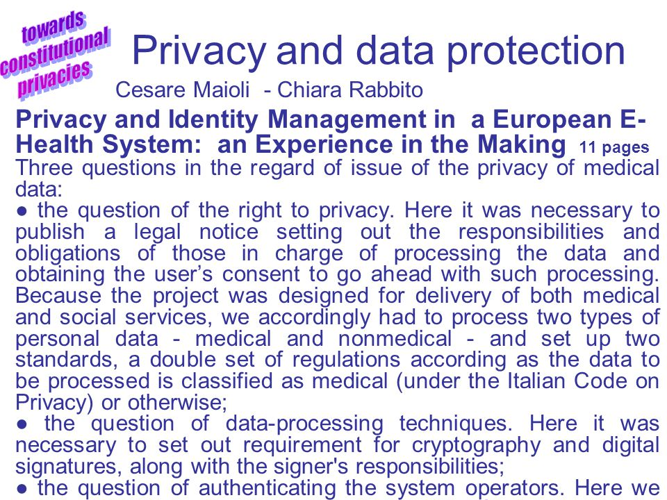 Privacy and Data Protection Mindaugas Civilka - Rita Barasneviciute Data Protection and Privacy : Changing Interplay with Human Rights 23 pages Of cou