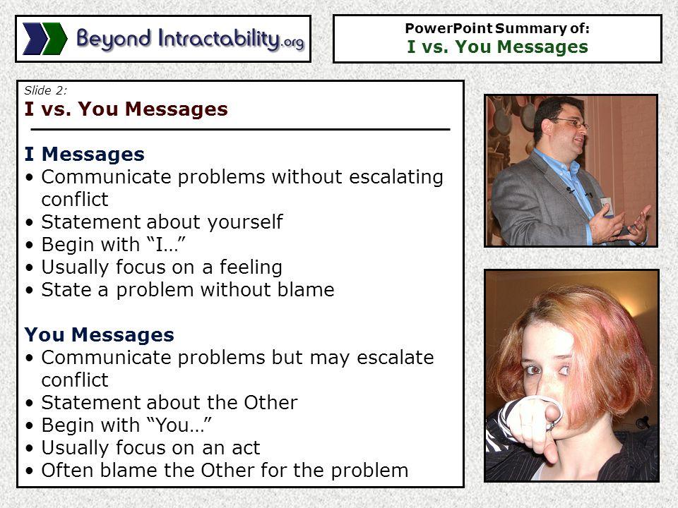 Slide 2: I vs.