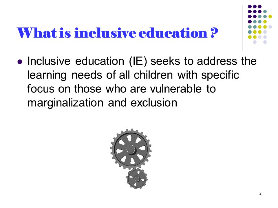 Bring change to curricular action (cont.) Increase the following (cont.): Attend to students' affective needs Create collaborative working environment Segregating students for their diversified ability Deliver special help into the class Allow varied and cooperative roles by all Rely upon teacher's descriptive evaluation 13