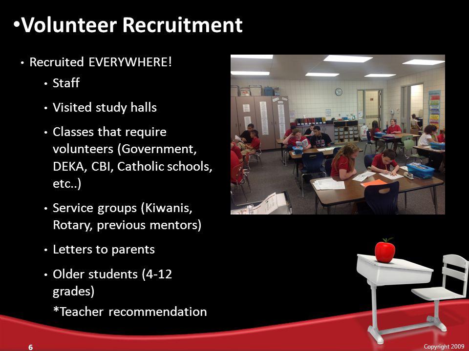 Recruited EVERYWHERE.