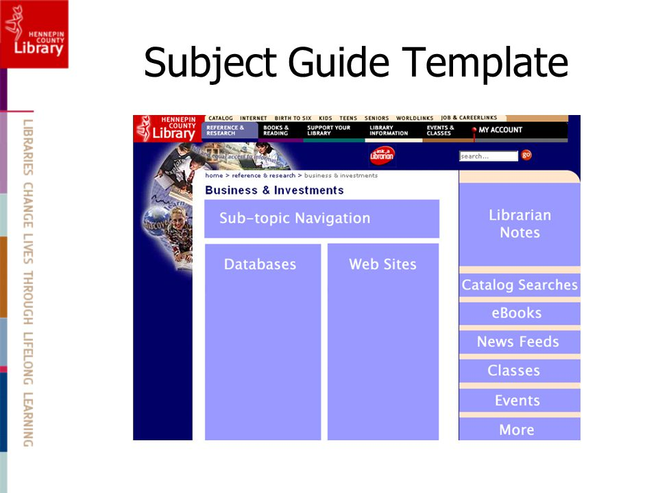 Subject Guide Template