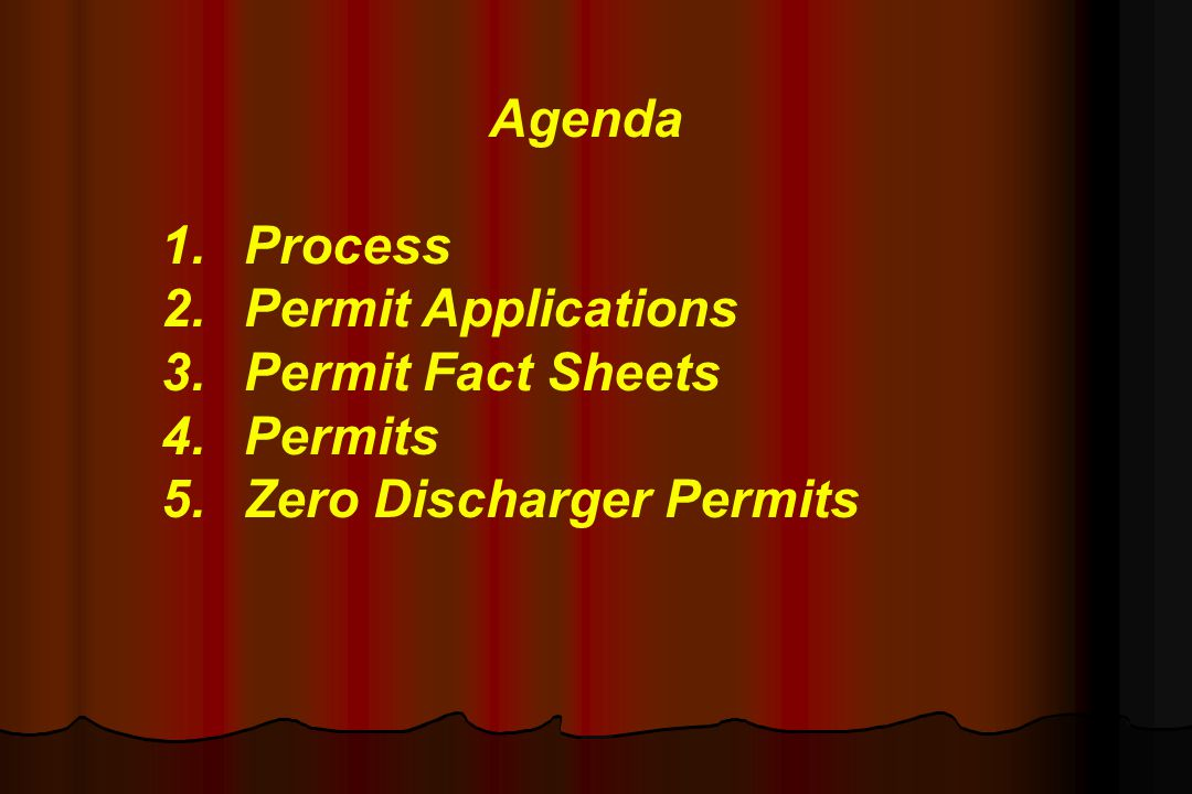 Zero Discharge Permits Civil and/or Criminal Penalty provisions Civil and/or Criminal Penalty provisions Permit Modification reference Permit Modification reference Revocation/Termination of permit conditions Revocation/Termination of permit conditions Signature Certification Requirements Signature Certification Requirements Notification of changes in practices and/or operations (NOT a notification of changed discharge) Notification of changes in practices and/or operations (NOT a notification of changed discharge)
