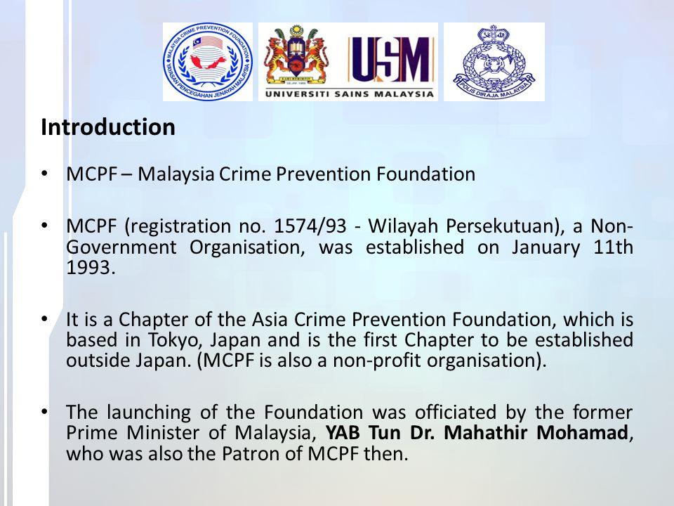 Introduction (Cont.) The present patron is the Prime Minister of Malaysia, YAB Dato Seri Hj Mohd Najib Bin Tun Hj Abdul Razak.