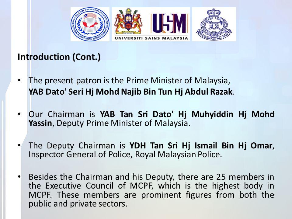 PATRONYAB Datuk Seri Mohd Najib Tun Abdul Razak CHAIRMANYAB Tan Sri Dato' Haji Muhyiddin Haji Mohd.
