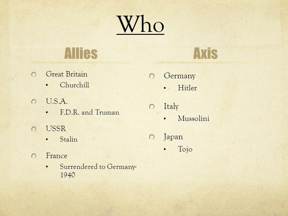 Why World War II .