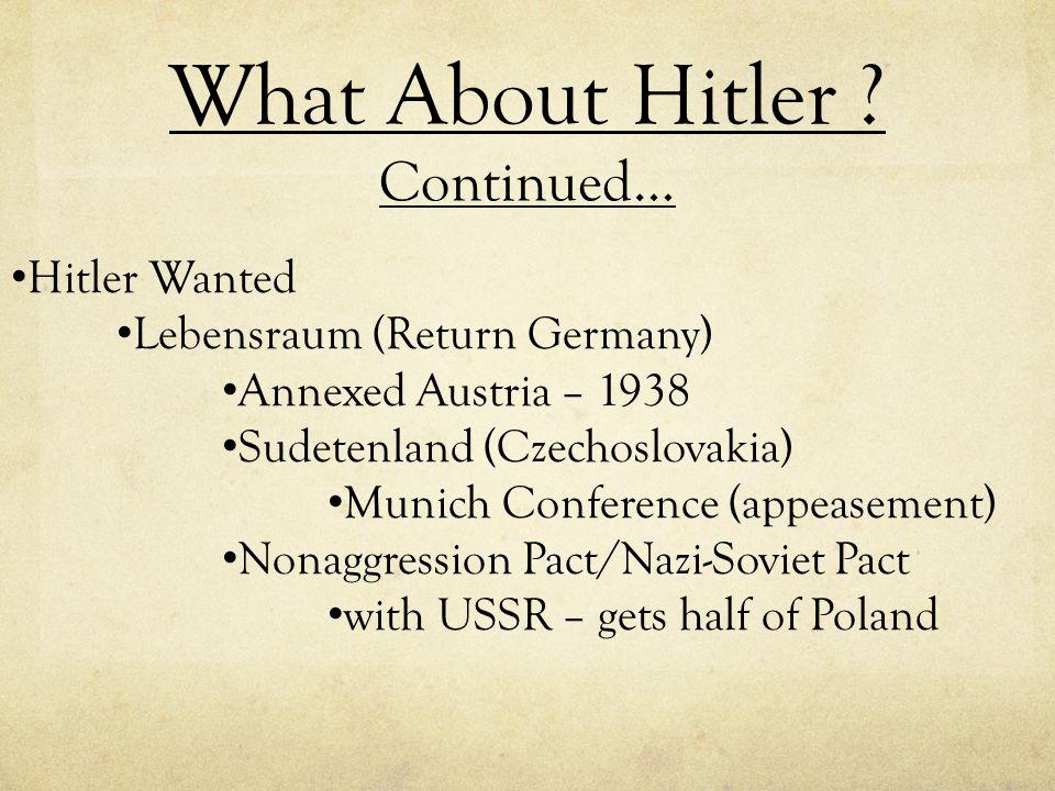 World War II German Aggression
