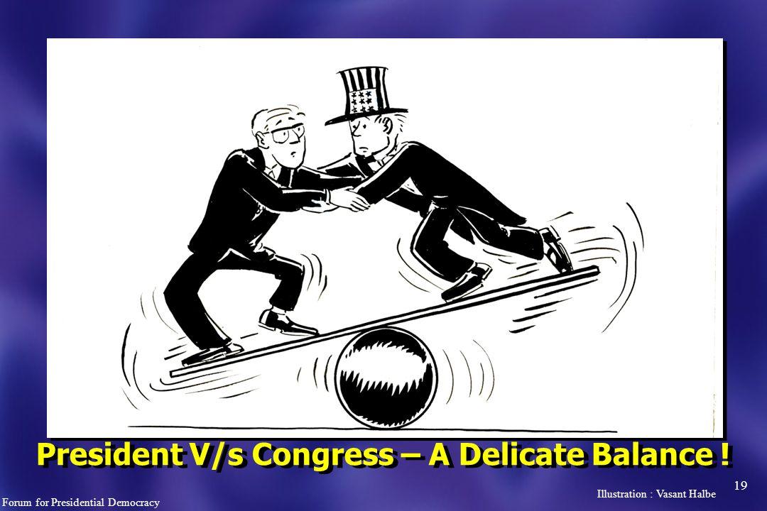 19 President V/s Congress – A Delicate Balance .