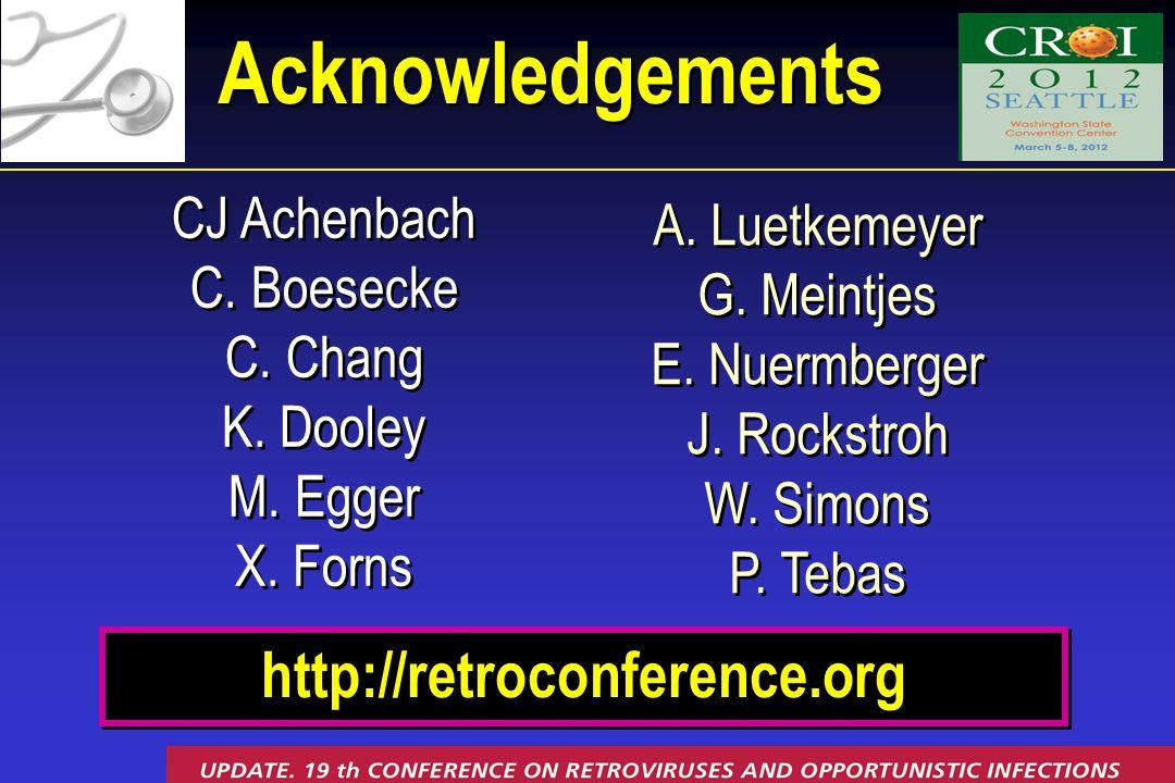 CJ Achenbach C. Boesecke C. Chang K. Dooley M. Egger X.