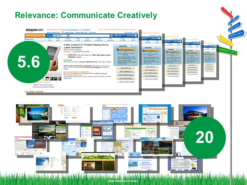 Google Confidential and Proprietary Relevance: Communicate Creatively 5.6 20