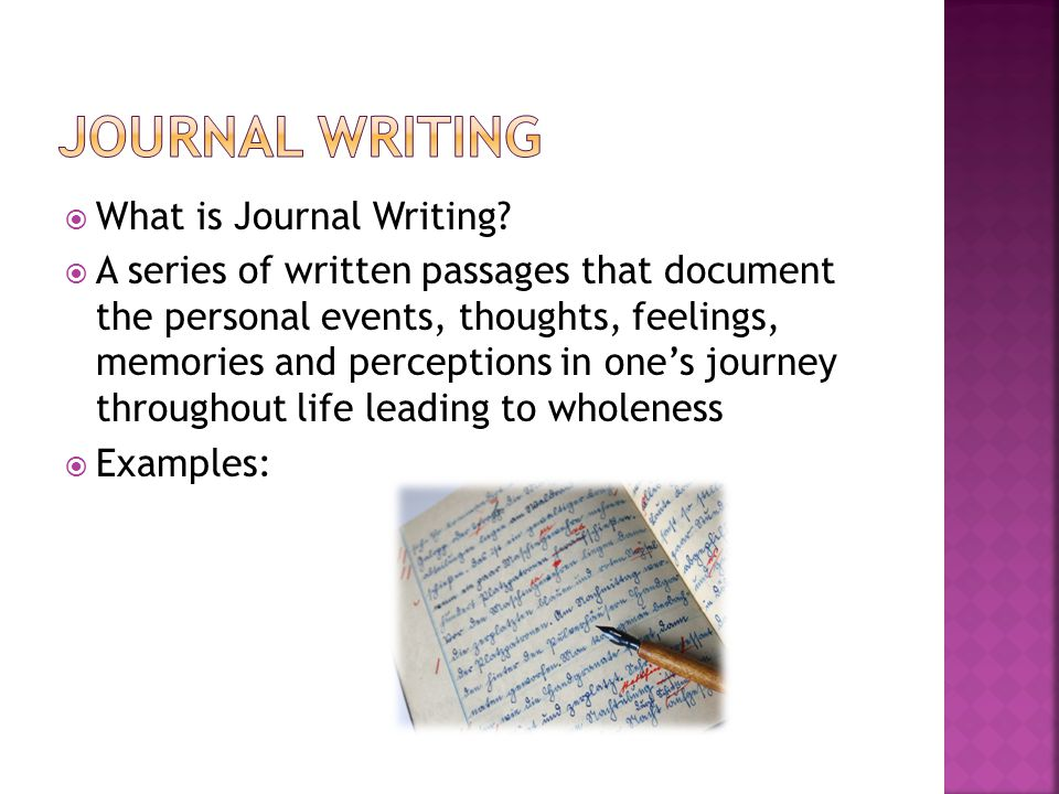  What is Journal Writing.