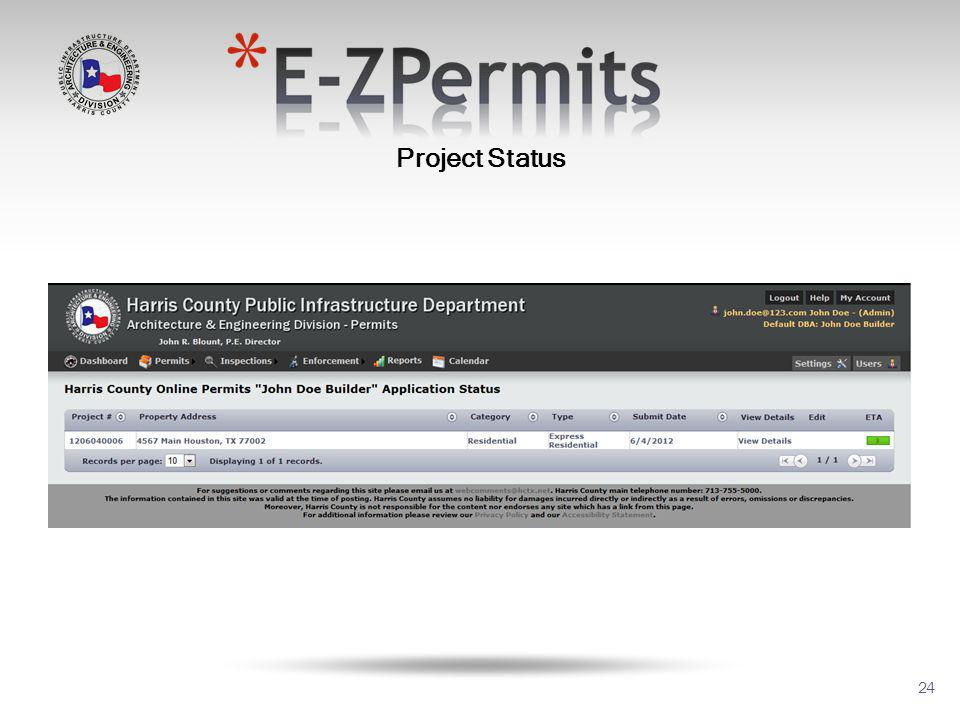 24 Project Status