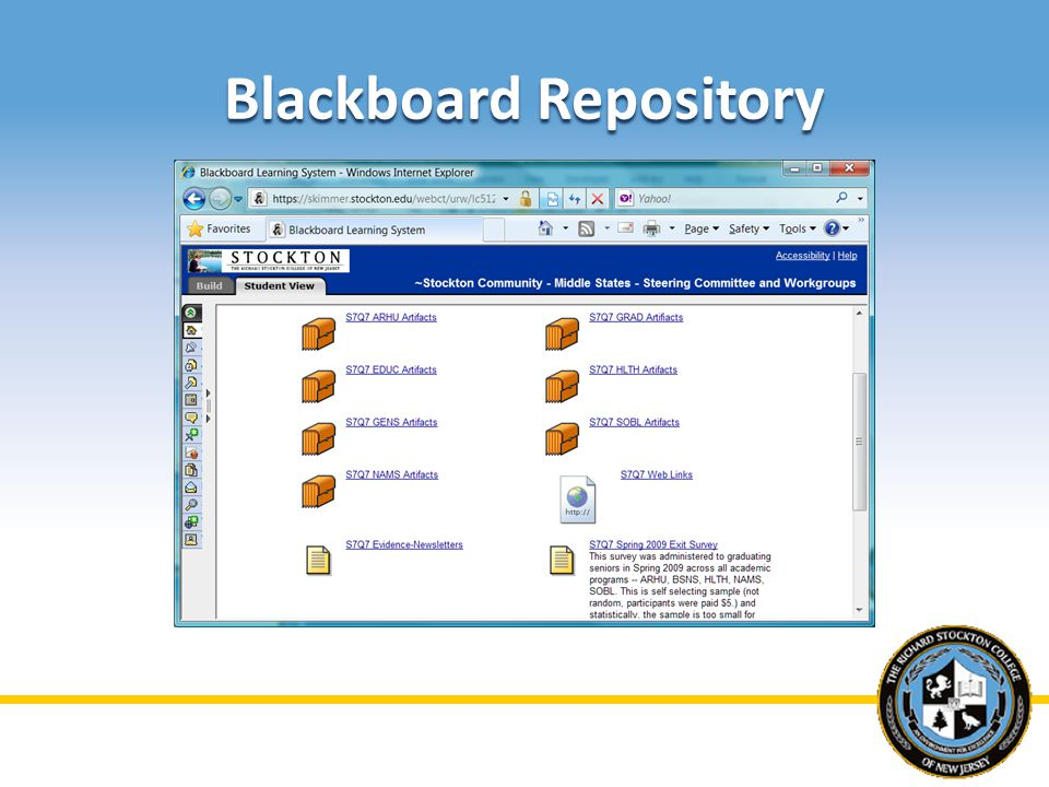 Blackboard Repository