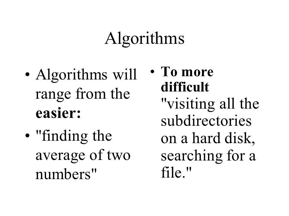 Algorithm Development An algorithm is a solution to a problem..