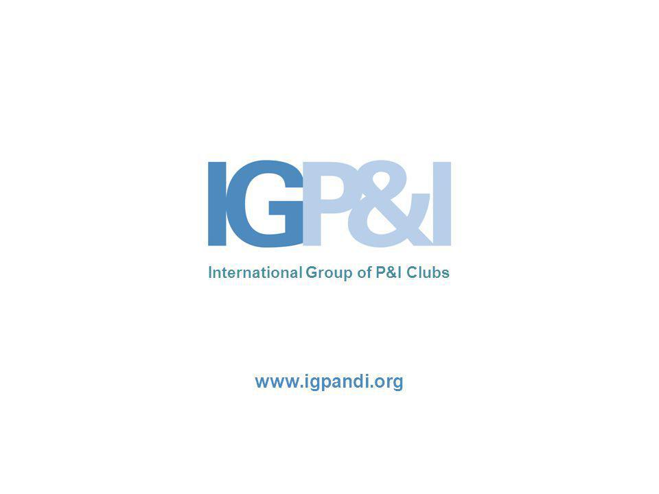 12 The International Group Summary: Need for clarity and consistent application of the Regulations Importance of responders having the necessary resources and capabilities in place to meet the Regulation requirements Owners should have sufficient time to enter into contracts Spill response contracts should conform with IG Guidelines IG Club L/U should be accepted as relevant financial guarantees
