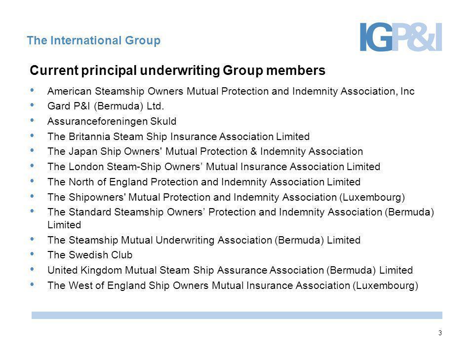 14 The International Group International Group of P&I Associations Peek House 20 Eastcheap London, EC3M 1EB Secretariat@internationalgroup.org.uk Tel: 00 44 (0) 207 929 3544 www.igpandi.org