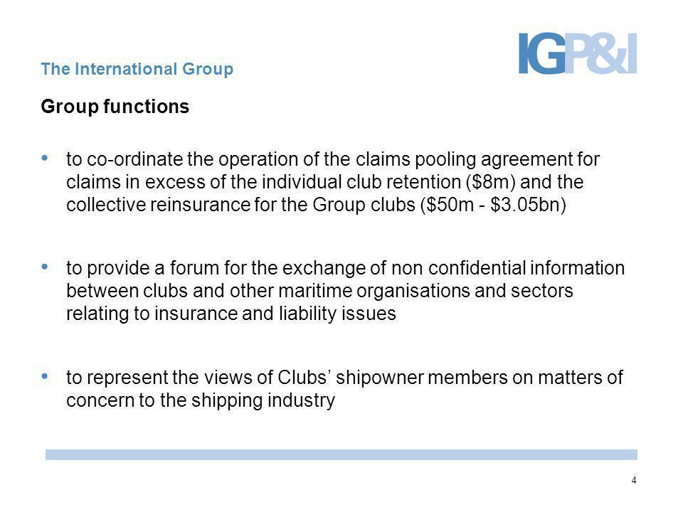 International Group of P&I Clubs www.igpandi.org