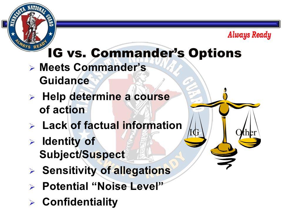 IG vs.
