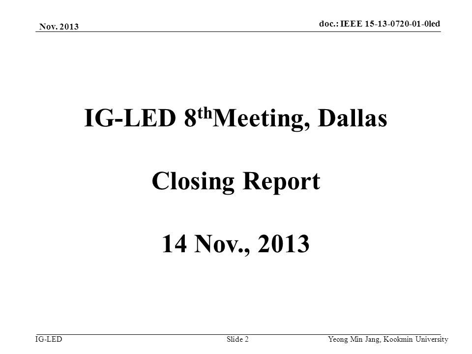 doc.: IEEE 15-08-0214-01-vlc IG-LED Nov.