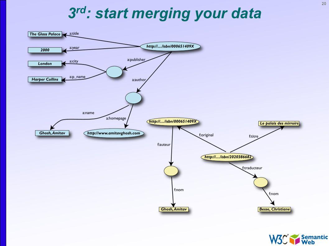 20 3 rd : start merging your data
