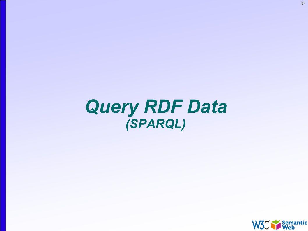 87 Query RDF Data (SPARQL)