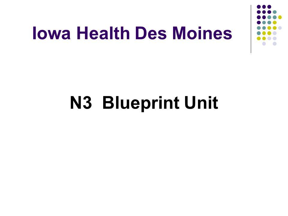Iowa Health Des Moines N3 Blueprint Unit