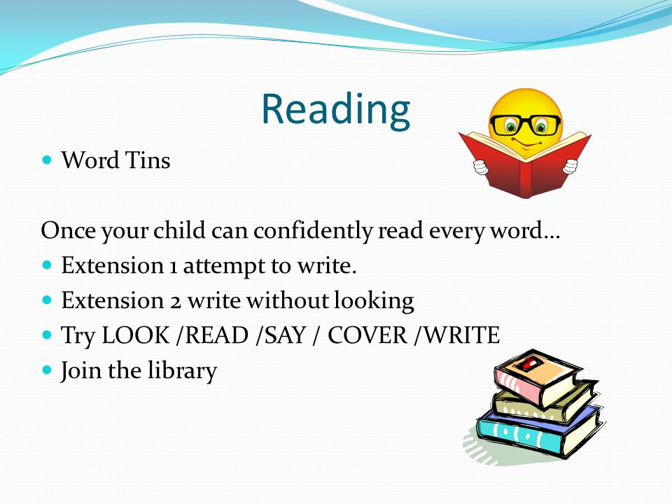Reading Word Tins Once your child can confidently read every word… Extension 1 attempt to write.