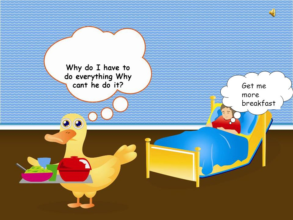 Farmer Duck Farmer Duck is the story of a big fat farmer who made his duck do all the work. He slept in bed, ate all day while the poor duck did the w