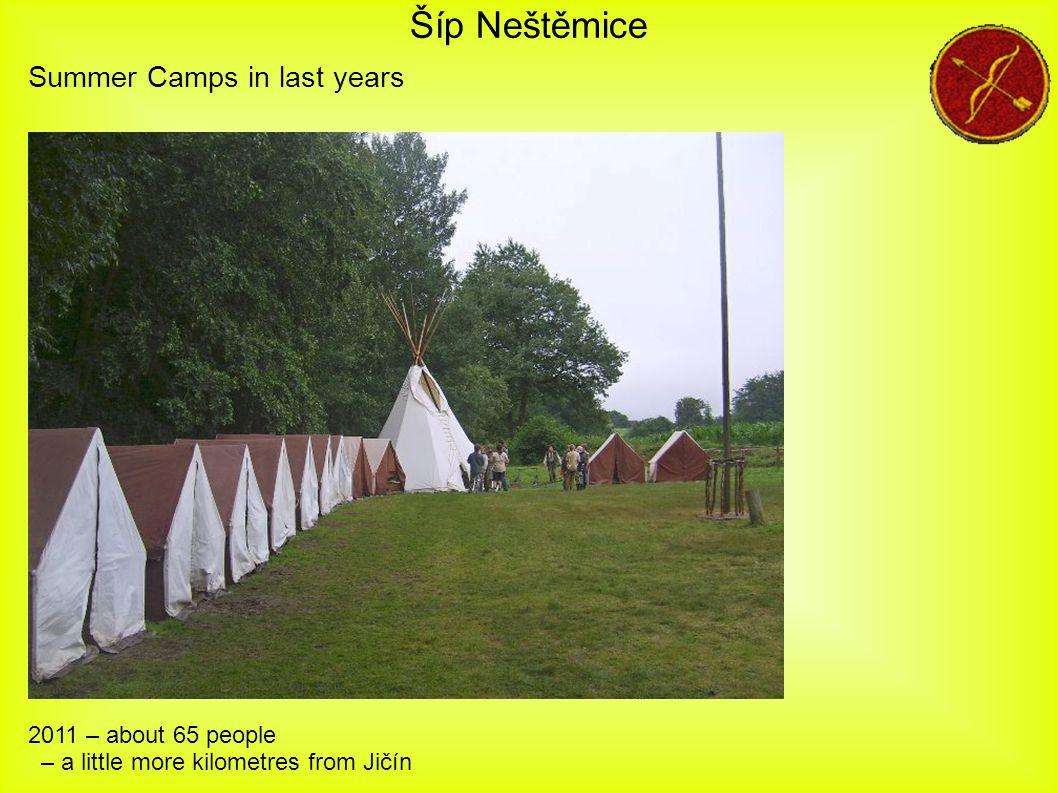 Šíp Neštěmice 2011 – about 65 people – a little more kilometres from Jičín Summer Camps in last years