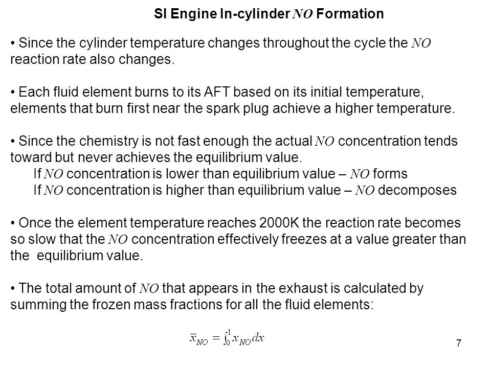 18 Hydrocarbon Emission Sources for CI Engines Crevices - Fuel trapped along the wall by crevices, deposits, or oil due to impingement by the fuel spray (not as important as in SI engines).