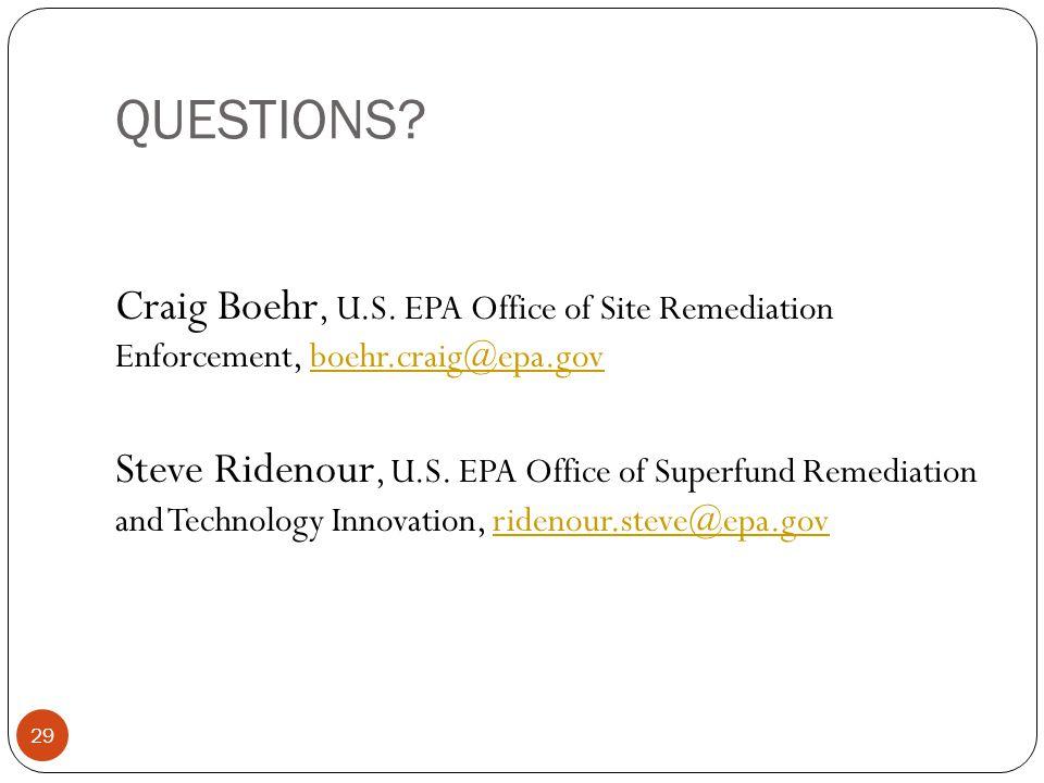 QUESTIONS. 29 Craig Boehr, U.S.