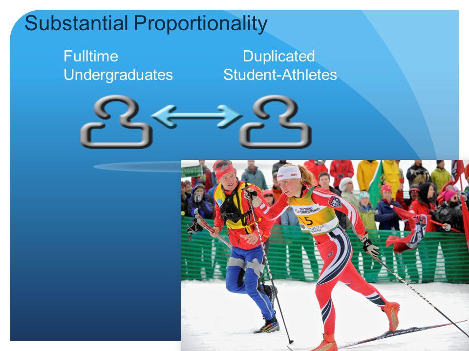 Fulltime Duplicated Undergraduates Student-Athletes Substantial Proportionality