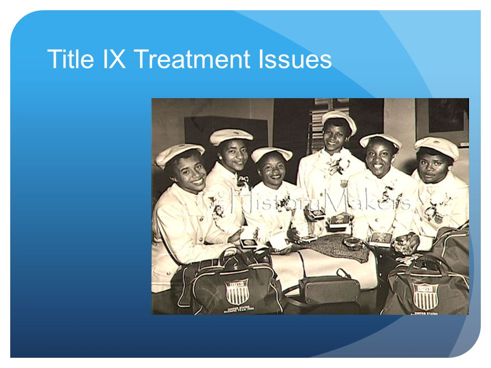 Title IX Treatment Issues