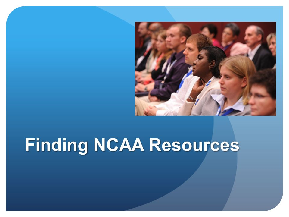 Finding NCAA Resources