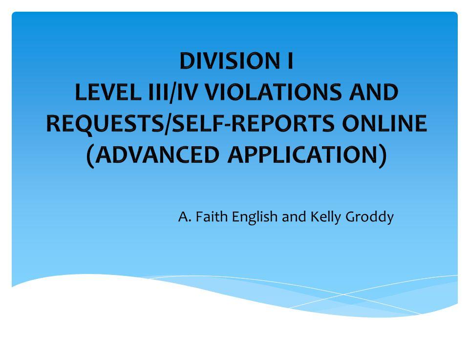 A. Faith English and Kelly Groddy
