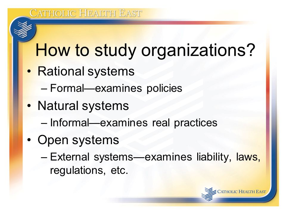 How to study organizations.