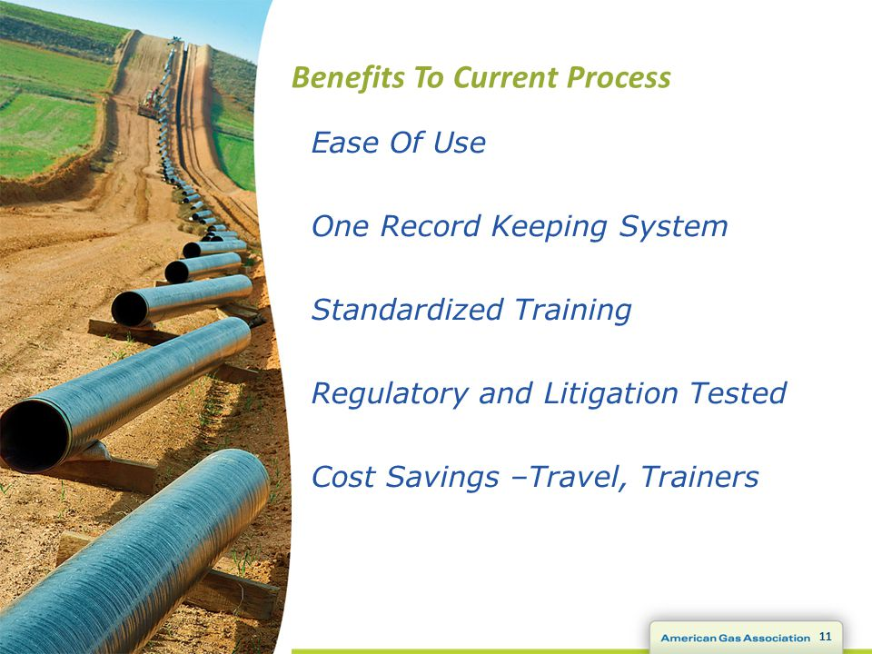 Benefits To Current Process 11 Ease Of Use One Record Keeping System Standardized Training Regulatory and Litigation Tested Cost Savings –Travel, Trainers