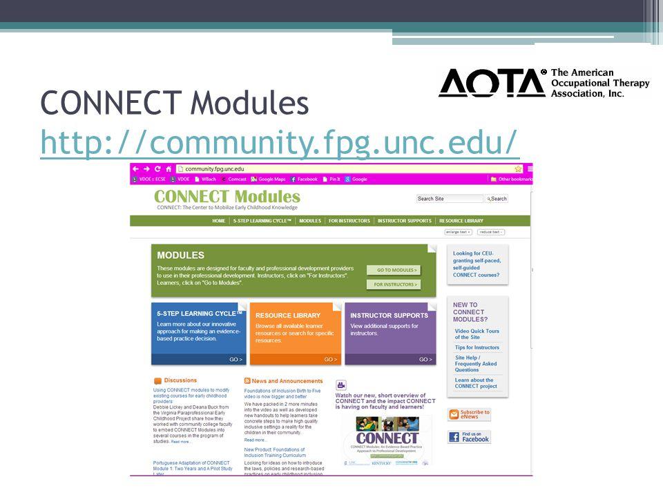 CONNECT Modules http://community.fpg.unc.edu/ http://community.fpg.unc.edu/