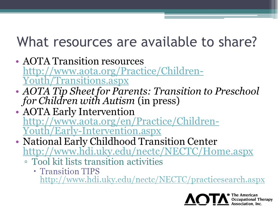 What resources are available to share.