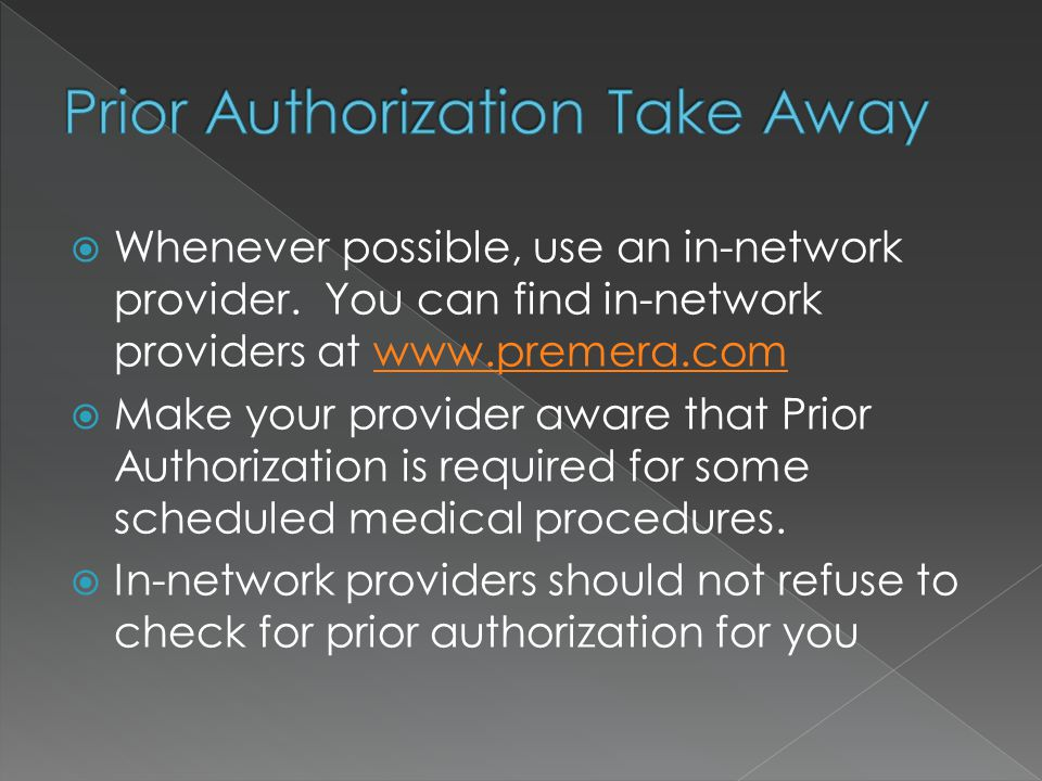  Whenever possible, use an in-network provider.