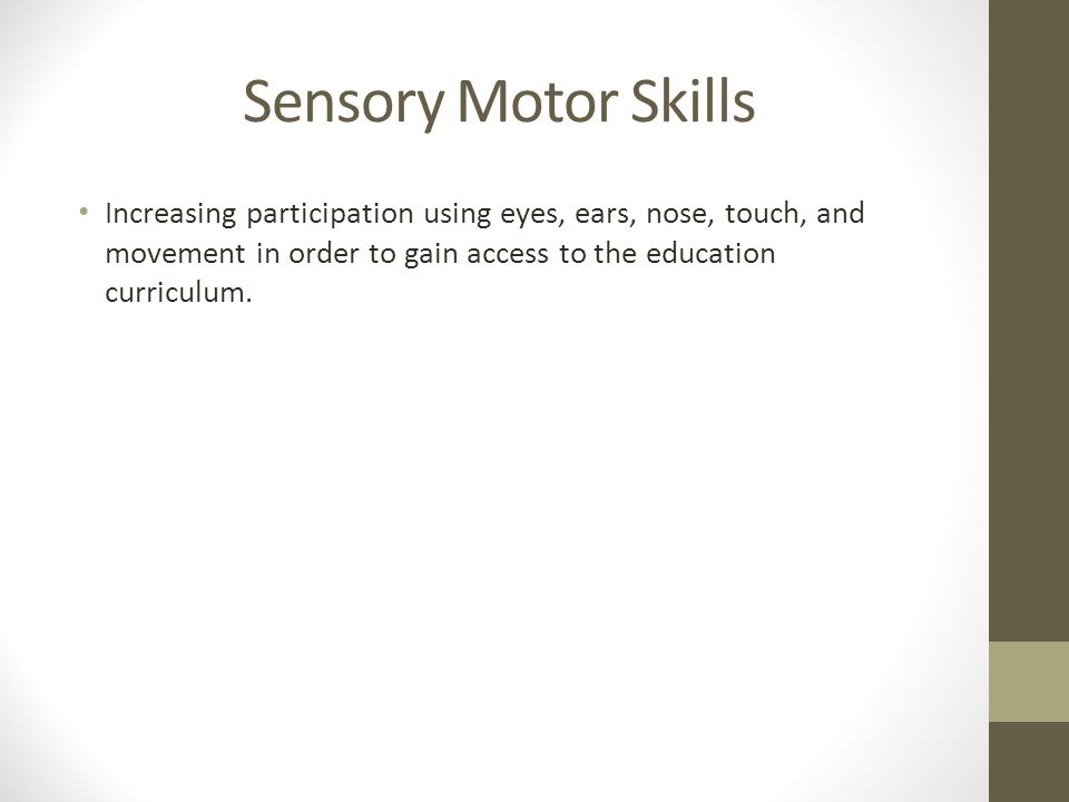 Our Sensory System (1 of 3) The right and left hemispheres of the brain have different roles.