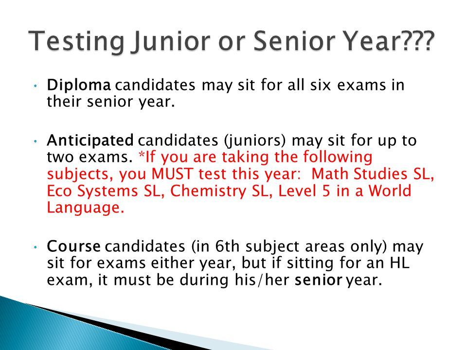 Candidates should choose their strongest subjects for their HL exams.