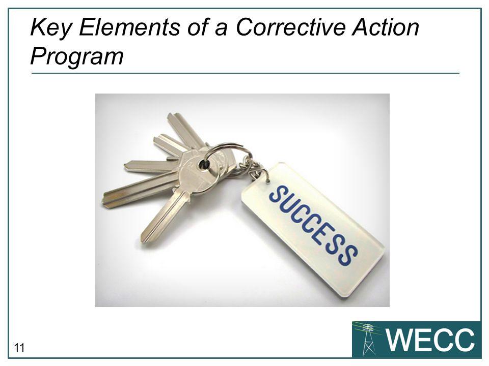 11 Key Elements of a Corrective Action Program
