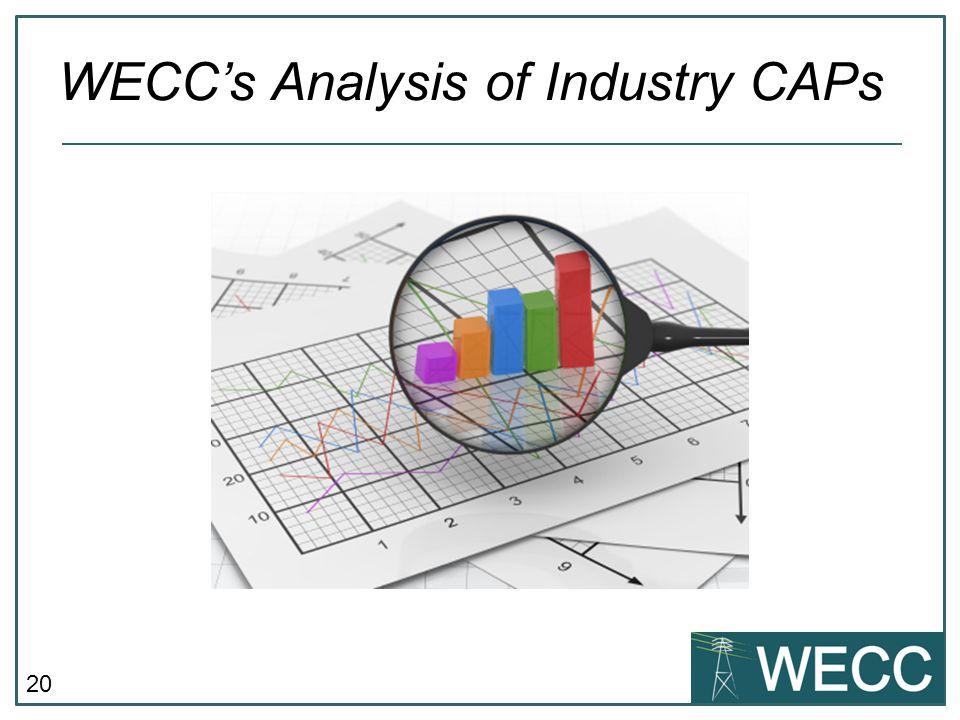 20 WECC's Analysis of Industry CAPs