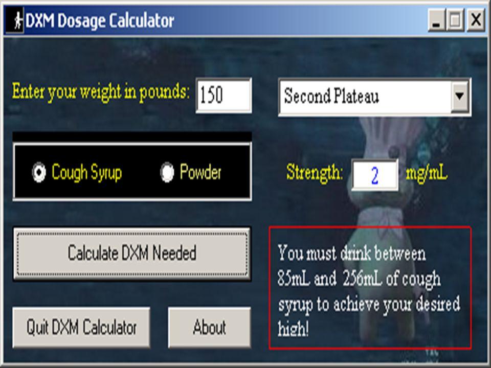 DXM Calculator