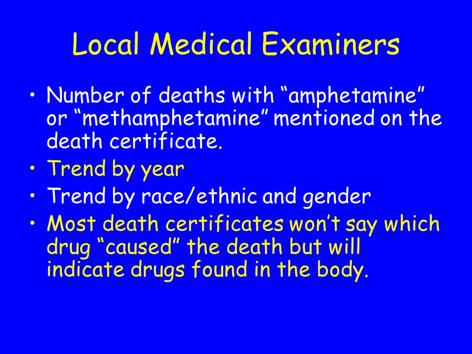 Stimulant Deaths Reported for Selected Metro Areas in DAWN: 2003