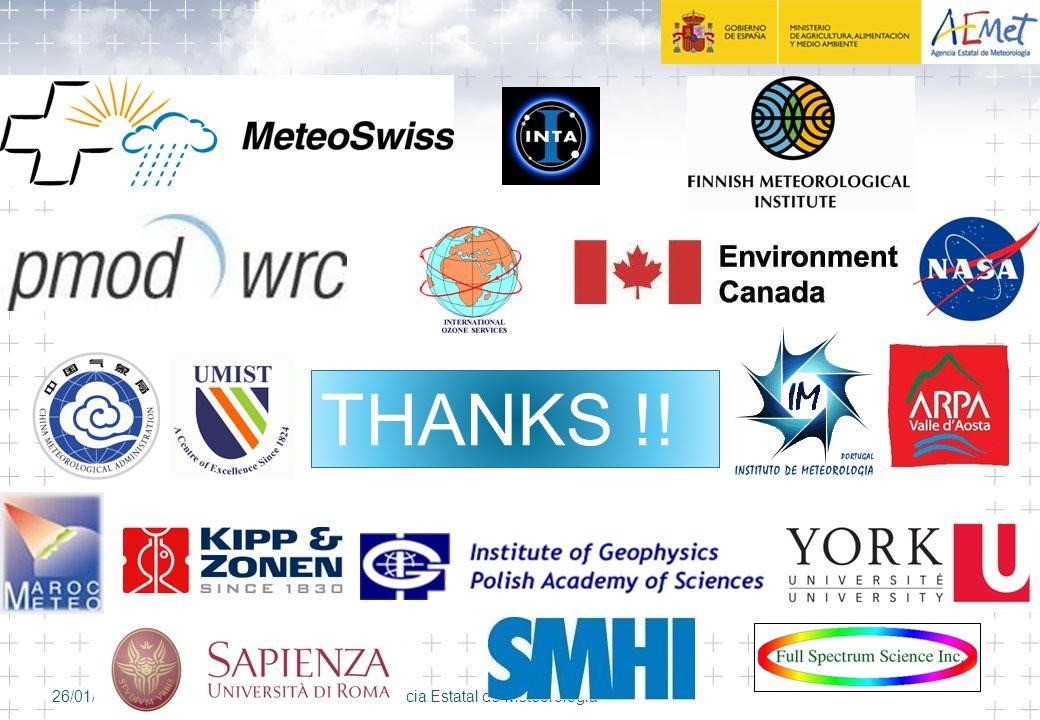 26/01/2008AEMET, Agencia Estatal de Meteorología THANKS !!