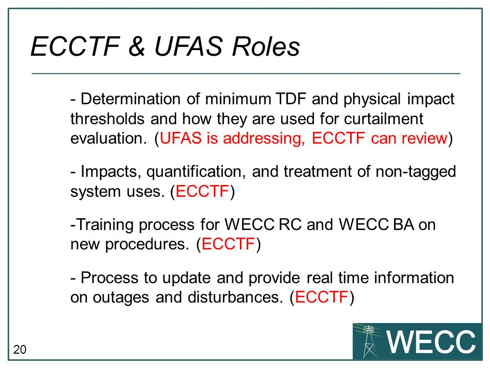 20 - Determination of minimum TDF and physical impact thresholds and how they are used for curtailment evaluation.