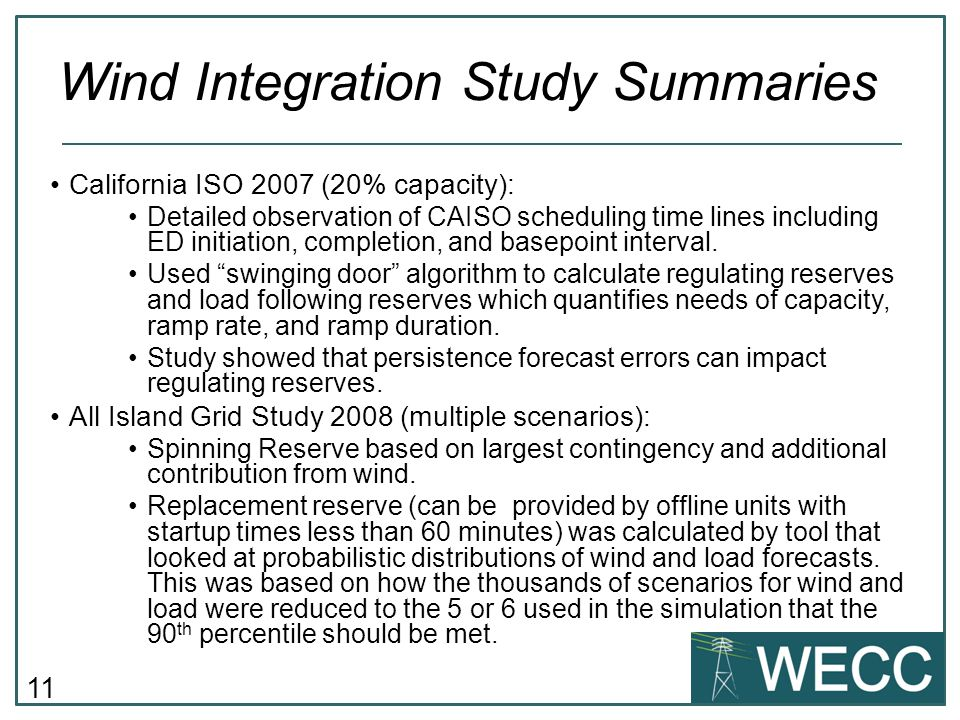 11 California ISO 2007 (20% capacity): Detailed observation of CAISO scheduling time lines including ED initiation, completion, and basepoint interval