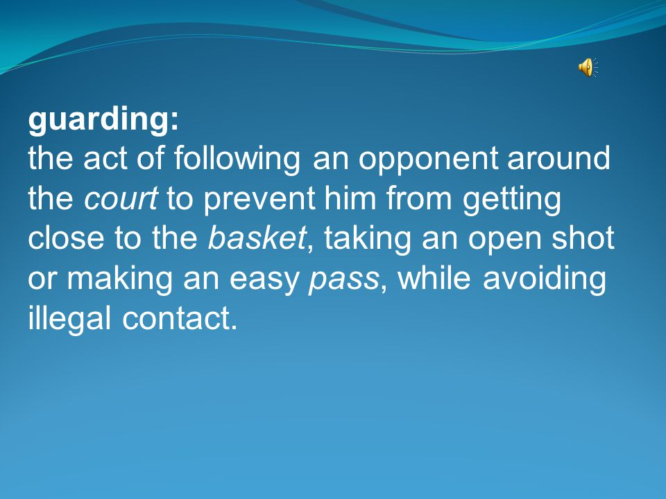 fast break: also called the run-and-shoot offense, it begins with a defensive rebound by a player who immediately sends an outlet pass toward midcourt to his waiting teammates; these teammates can sprint to their basket and quickly shoot before enough opponents catch up to stop them.